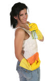 Playful Cleaner Royalty Free Stock Photography