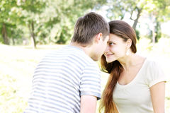 Playful confrontation Stock Photography