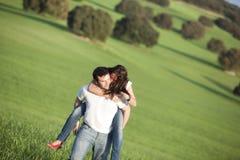 Playful couple Stock Image