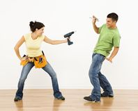 Playful couple. Stock Photo
