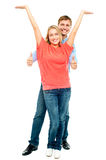 Playful couple goofing around Royalty Free Stock Images