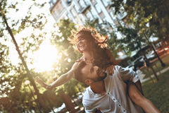 Playful couple. Stock Photos
