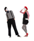 Playful couple of mimes Royalty Free Stock Image