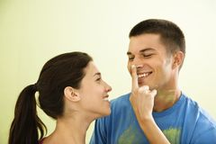 Playful couple painting. Stock Photo