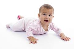 Playful cute little child stock image