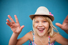 Playful cute young girl Royalty Free Stock Images