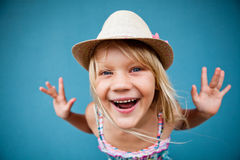 Playful cute young girl Stock Photo