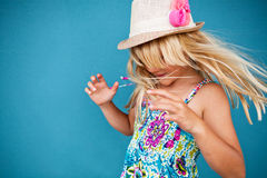 Playful cute young girl Royalty Free Stock Image
