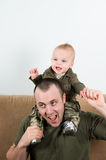 Playful dad Stock Images