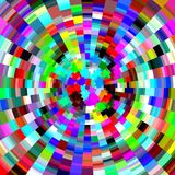 Playful diamond like colors, abstract background. Playful various colors and diamond like shapes in circular movement in red, yellow, pink, green, blue, vioet Vector Illustration
