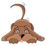 Playful dog. Cute playful dog, vector illustration Stock Photos