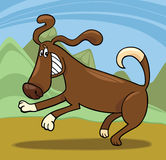 Playful dog cartoon illustration Royalty Free Stock Images