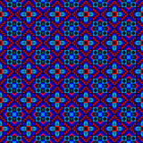 Playful Ethnic Pattern. Seamless ethnic pattern with geometric faces Stock Images