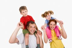 Playful family Royalty Free Stock Photo