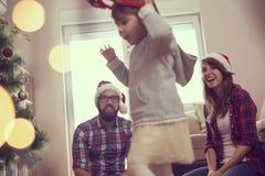 Playful family holidays Stock Photos