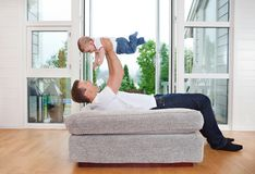 Playful Father with Child Stock Photography