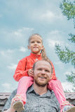 Playful father and daughter Royalty Free Stock Images