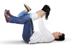 Playful father and his daughter Stock Images