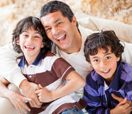 Playful father with son Stock Images