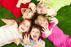 Playful friends Stock Images