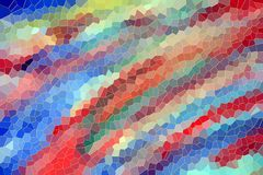 Playful funny background in red blue hues. Playful funny colorful abstract background with small diamond like shapes in red, pink, blue and yellow hues Royalty Free Stock Images