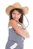 Playful girl seven years Royalty Free Stock Photography