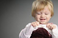 Playful Girl Smiling Portrait Stock Images