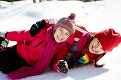 Playful girls Royalty Free Stock Image