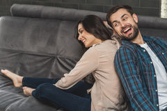 Playful guy and girl dating Stock Photo