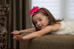 Playful, happy child posing. Stock Photos