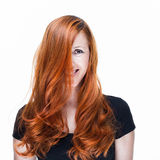 Playful and happy redhead woman Royalty Free Stock Images