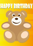 Playful Illustration Birthday Card Teddy Stock Image
