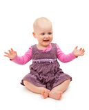 Playful joyful child sits Royalty Free Stock Photography