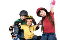 Playful Kids in Gear Stock Images