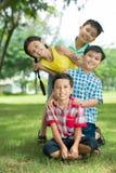 Playful kids stock photos