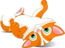 Playful kitten royalty free illustration
