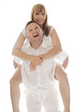Playful laughing romantic couple Royalty Free Stock Images