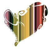Playful lines and colorful heart, love design Stock Photo