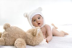 Playful little baby Royalty Free Stock Photo