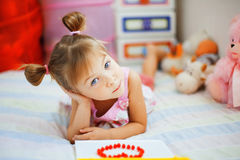 Playful little girl Royalty Free Stock Photo