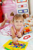 Playful little girl Royalty Free Stock Photography