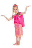 Playful little girl is dancing Thai dance Royalty Free Stock Photography