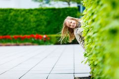 Adorable little girl outdoors Royalty Free Stock Image