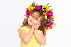 Playful little girl Stock Photos