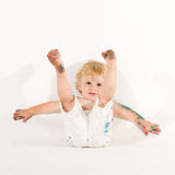 Playful little toddler Stock Images