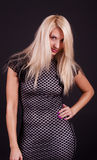Playful look of  blonde Royalty Free Stock Photos