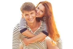 Playful lovely couple Stock Photography