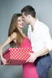 Playful loving couple Stock Images