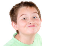 Playful mischievous young boy Royalty Free Stock Photos