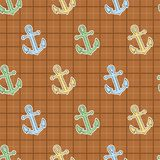 Double square playful anchor stock illustration